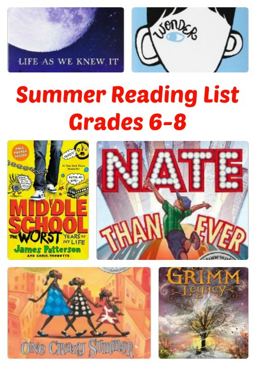 Terrific Summer Reading List - Middle School - Grades 6-8 | Mommy Evolution