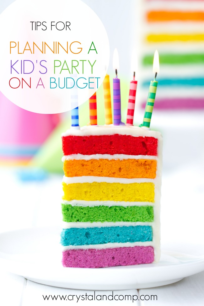 How to Plan an Awesome Kid's Birthday Party on a Tight Budget from Crystal & Co.