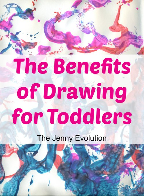 Let's talk about the benefits of drawing for toddlers! on Mommy Evolution