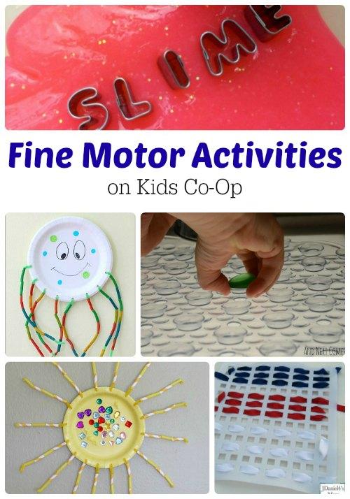 Fine Motor Activities from the Kids Co-Op