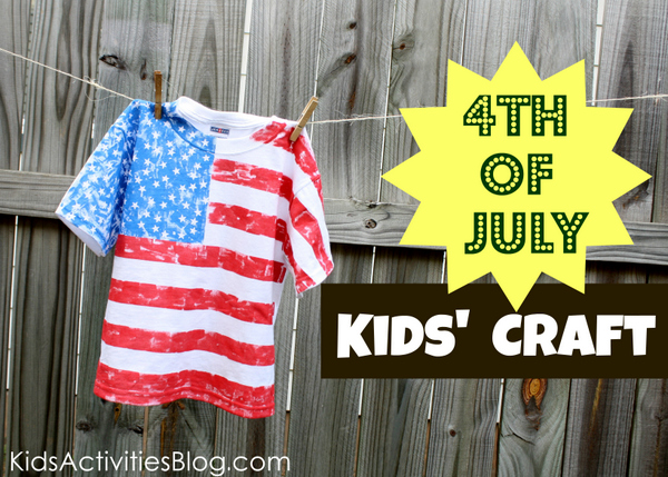 4th of July Flag Shirt. DIY Tutorial from Kids Activities Blog