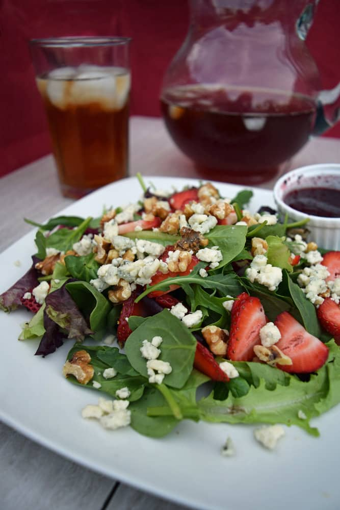 Celebrate Summer with Strawberry Walnut Salad. Recipe from Craving Some Creativity