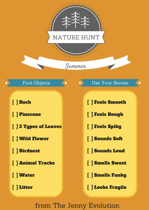 Nature Scavenger Hunt FREE Printable | Mommy Evolution