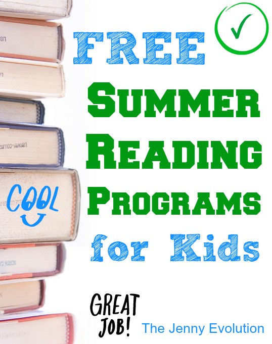 FREE Summer Reading Programs | The Jenny Evolution