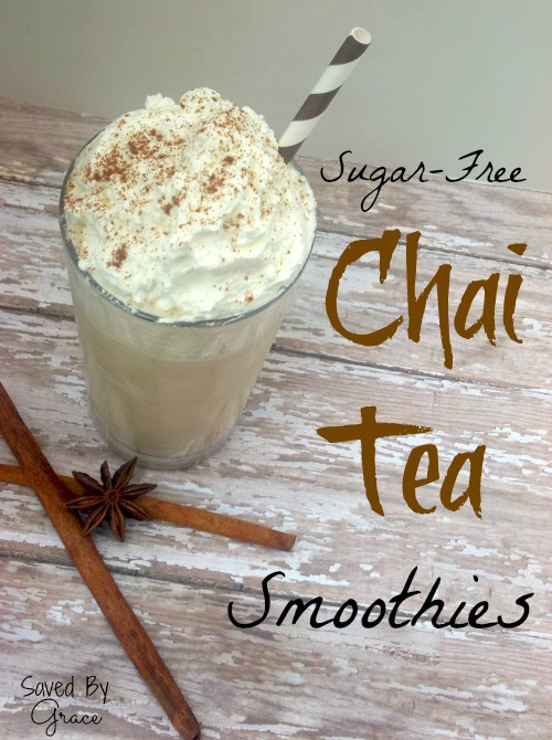 (Starbucks) Sugar Free Chai Tea Smoothies Recipe from Saved By Grace