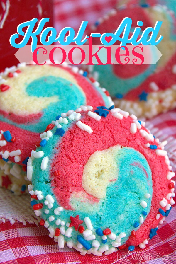 Check out these fun Kool-Aide cookies! Recipe from This Silly Girl's Life
