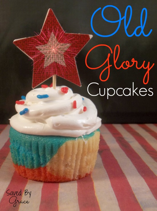 Old Glory Low-Sugar Cupcakes from Saved by Grace