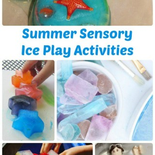 Summer Sensory Activities - Ice Play for Kids