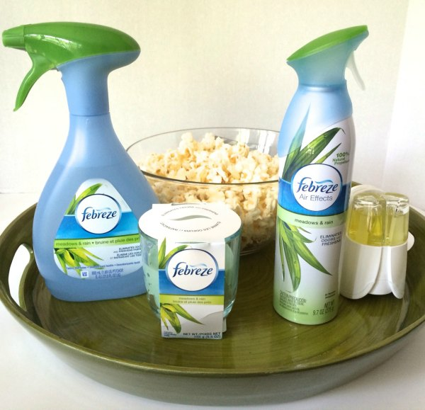 Did Febreze help remove the popcorn scent in our home and cure of us noseblindness?