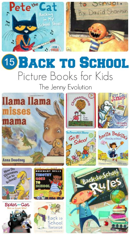 Back to School Picutre Books for Kids | The Jenny Evolution