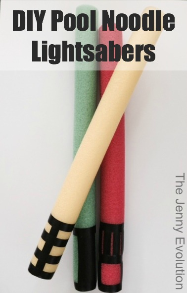 DIY Pool Noodle Lightsabers Tutorail | The Jenny Evolution