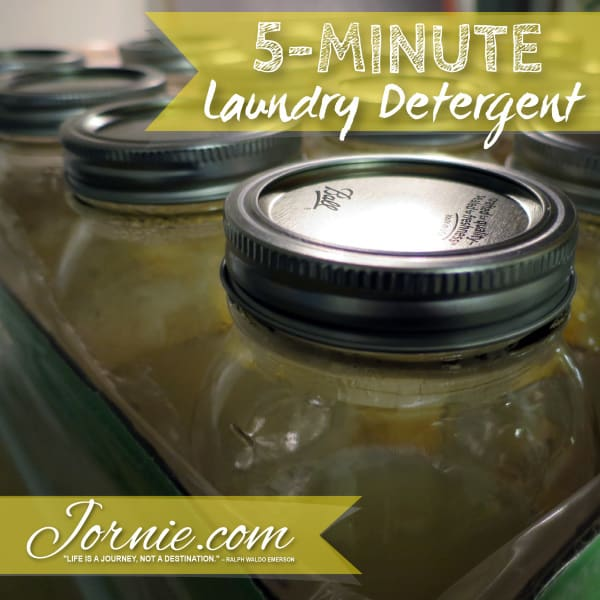 Homemade Laundry Detergent in under 5 minutes! DIY Tutorial by Jornie.com