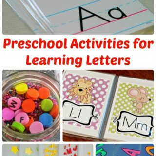 Preschool Activities for Learning Letters