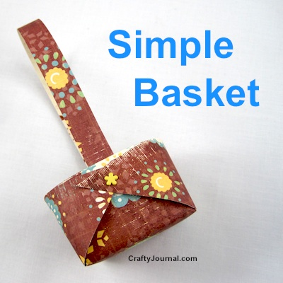 Isn't this homemade basket adorable? DIY Tutorial by Crafty Journal