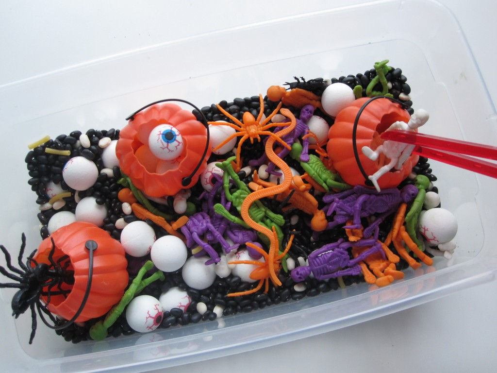 Halloween Sensory Tub For Multiple Ages | No Time For Flashcards