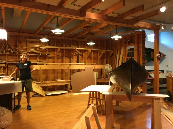 Canoe Maker is the Display at the Adirondack Museum
