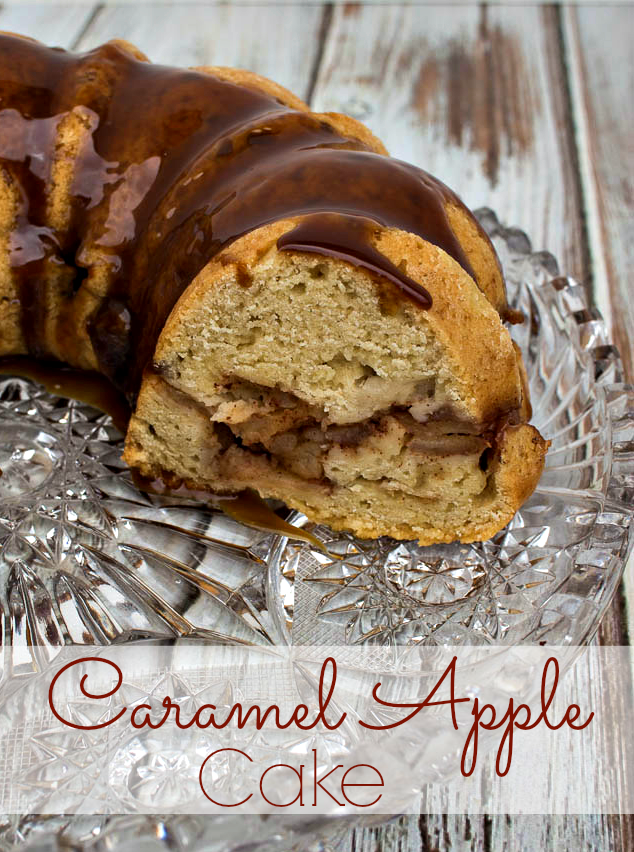Oh my goodness this Caramel Apple Cake looks delectable! Recipe by Upstate Ramblings