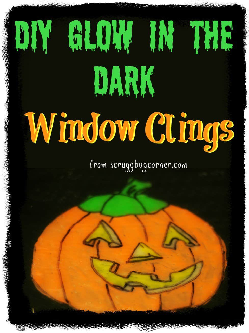 DIY Glow in the Dark Window Clings. DIY Tutorial from Scruggbug Corner