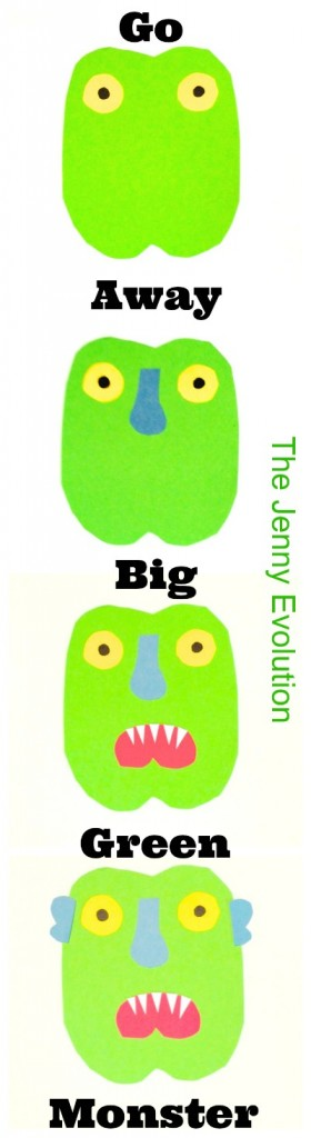 Help Kids Fight Their Fears - Ed Emberly's Go Away Big Green Monster Craft & Activity | Mommy Evolution