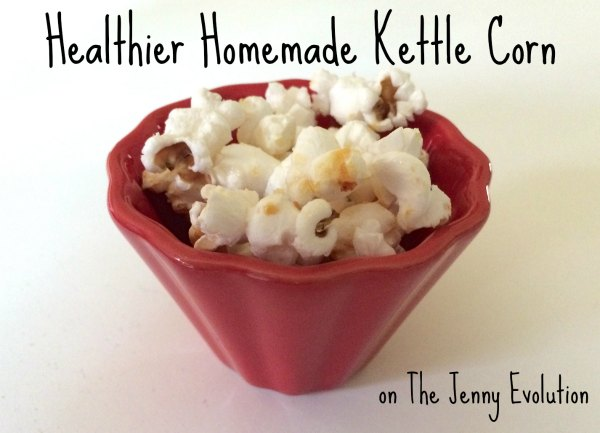 Healthier Homemade Kettle Corn #Recipe | The Jenny Evolution