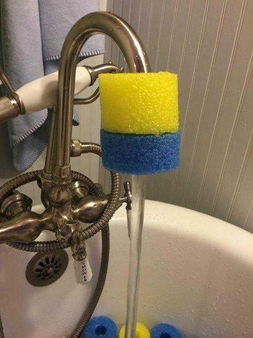 Sensory Pool Noodle Bath - Explore Patterns | The Jenny Evolution