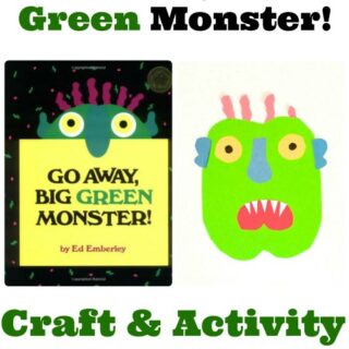 Go Away Big Green Monster Craft and Activity