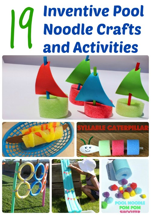 19 Inventive Pool Noodle Crafts and Activities | Mommy Evolution