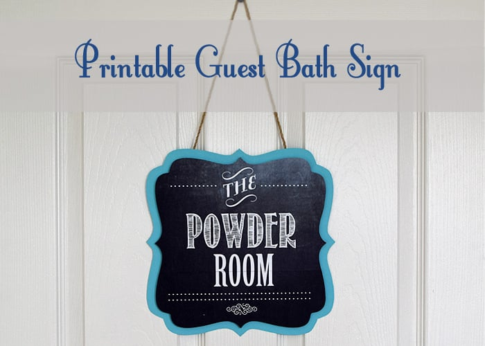 Covering a Door Hole and Printable Bathroom Sign + FREE Printable from Craving Some Creativity