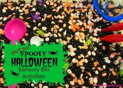 A {Not So} Spooky Halloween Sensory Bin | Where Imagination Grows