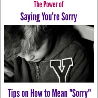 Teach Your Children How to Say Sorry