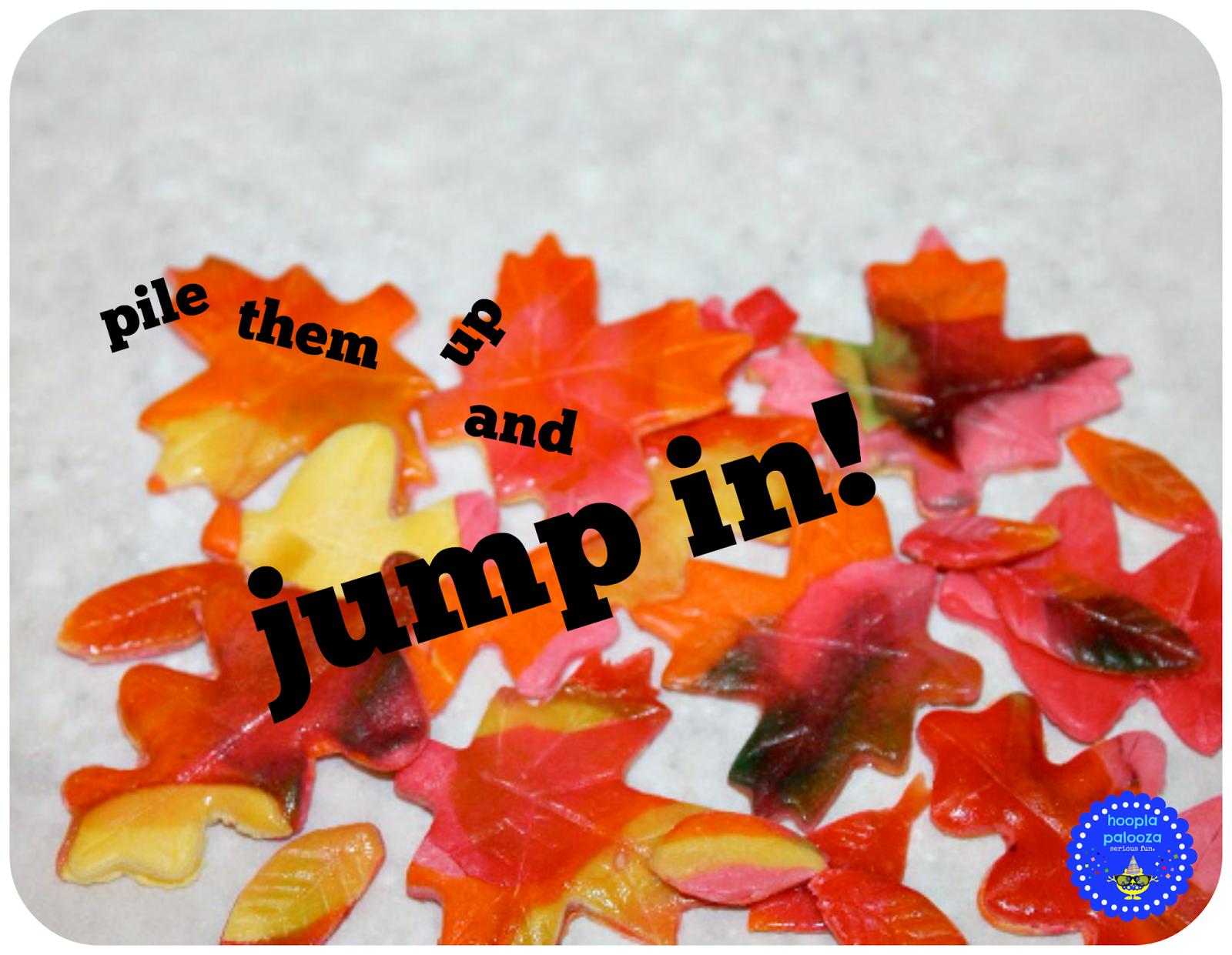 Super fun candy Autumn leaves recipe from Hoopla Palooza