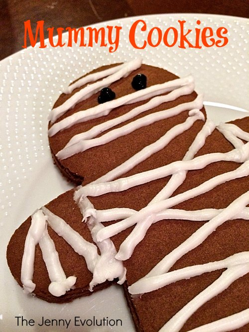 Chocolate Gingerbread Man Mummy Cookies Idea from The Jenny Evolution