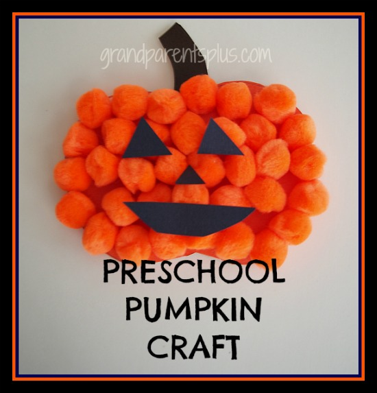 Preschool Pumpkin Craft from Grandparents Plus
