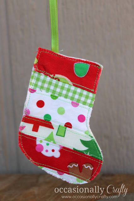 Scrappy Stocking Ornament | Occasionally Crafty