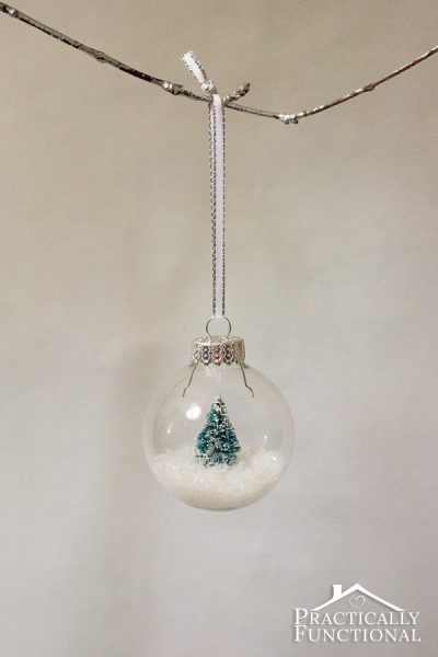 DIY Snow Globe Ornament | Practically Functional