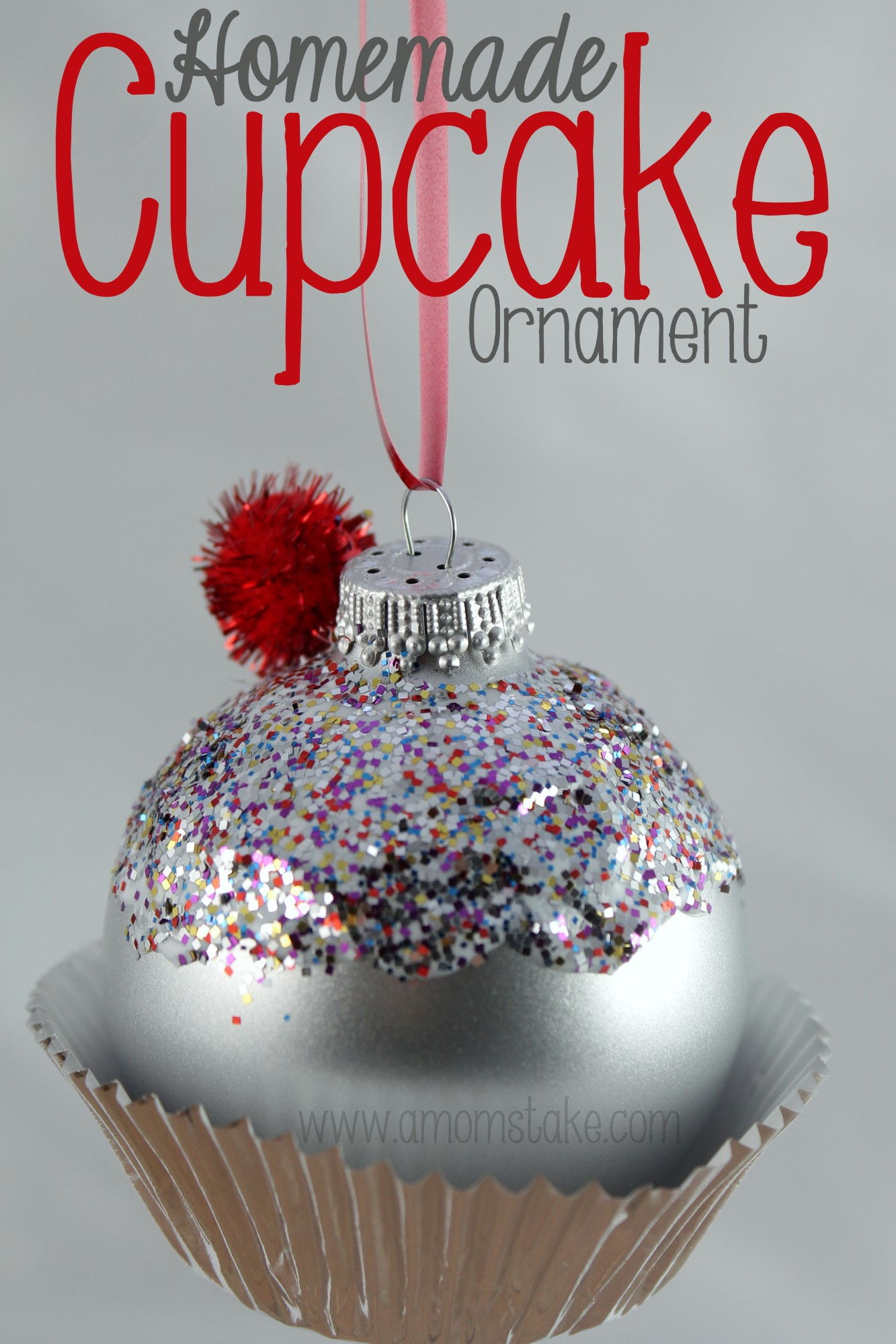 Homemade Cupcake Ornament | A Mom's Take