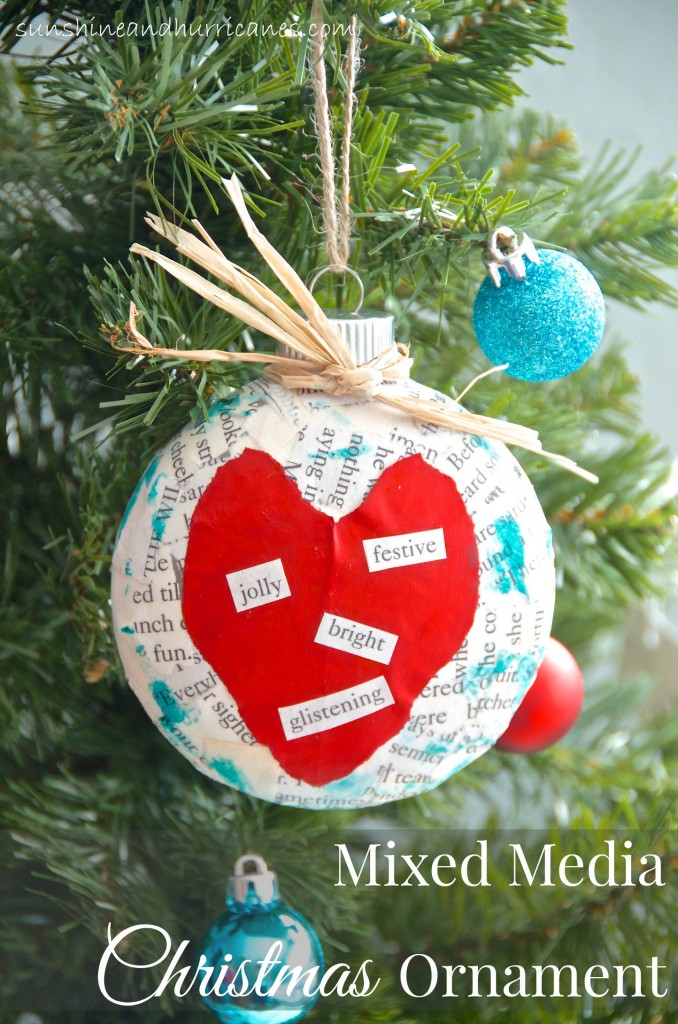 Mixed Media Christmas Ornament | Sunshine & Hurricanes