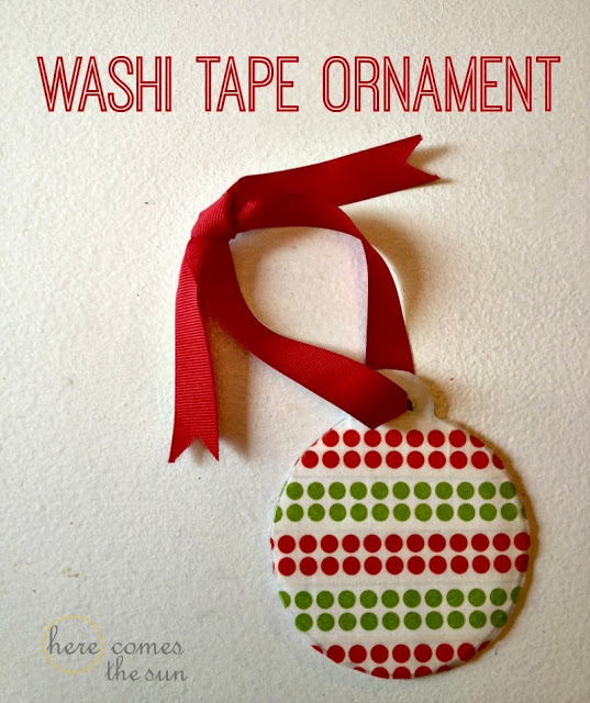 Washi Tape Ornament | Here Comes the Sun