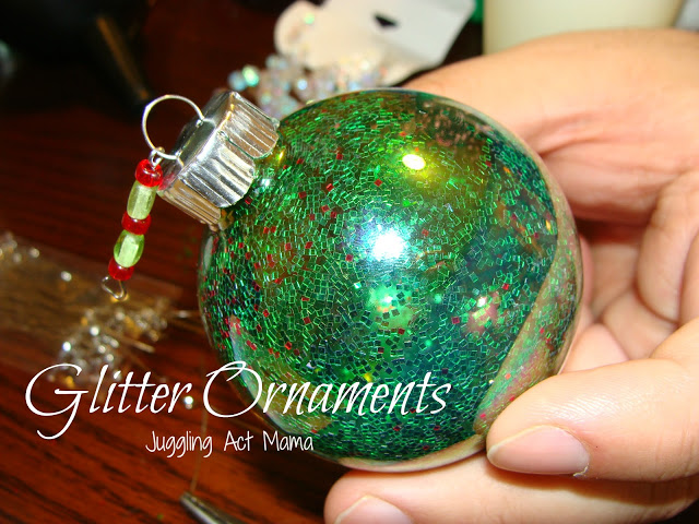 Glitter Ornaments | Juggling Act Mama
