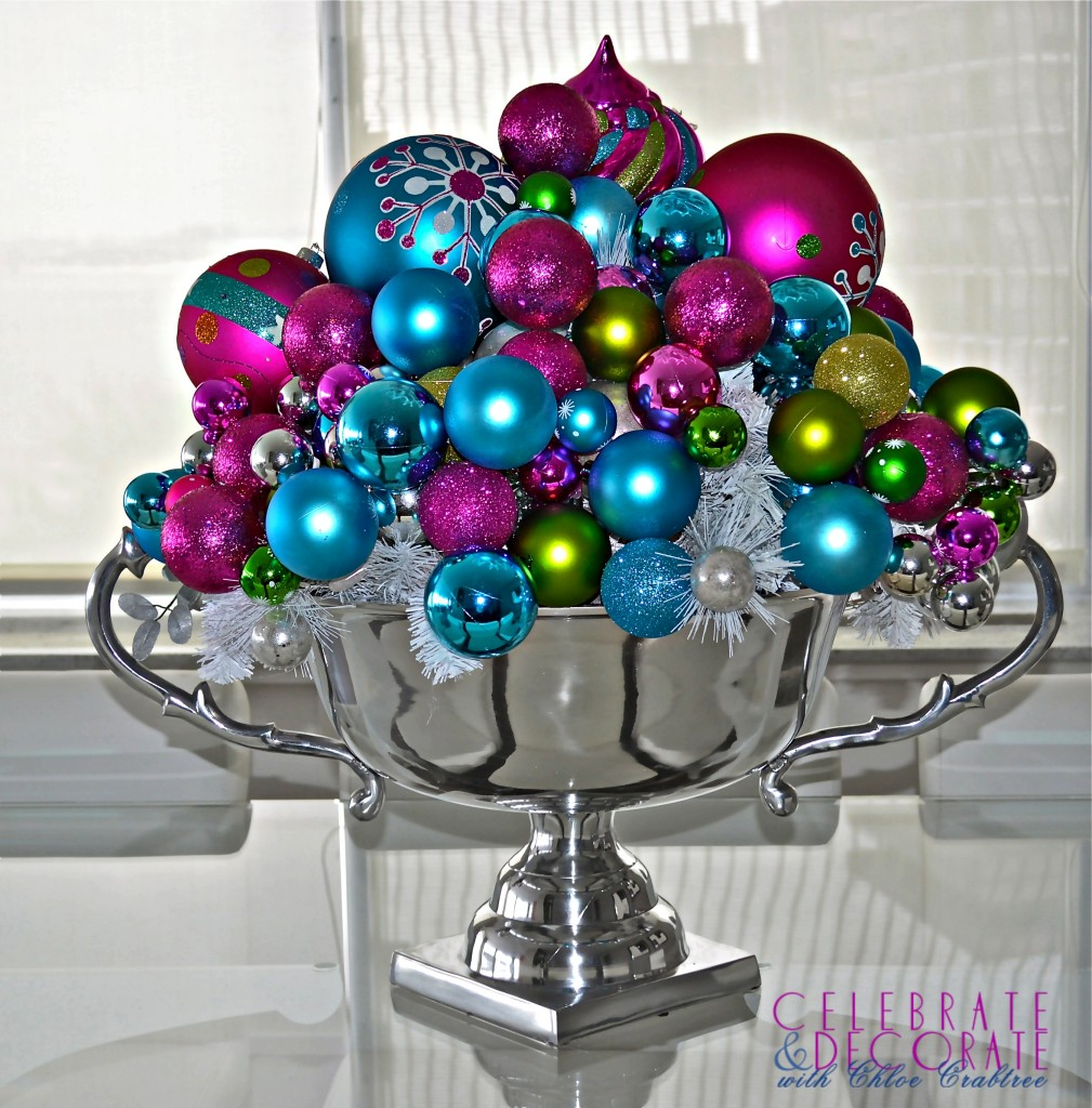 Bright and Modern Christmas Decor DIY Ideas from Celebrate & Decorate