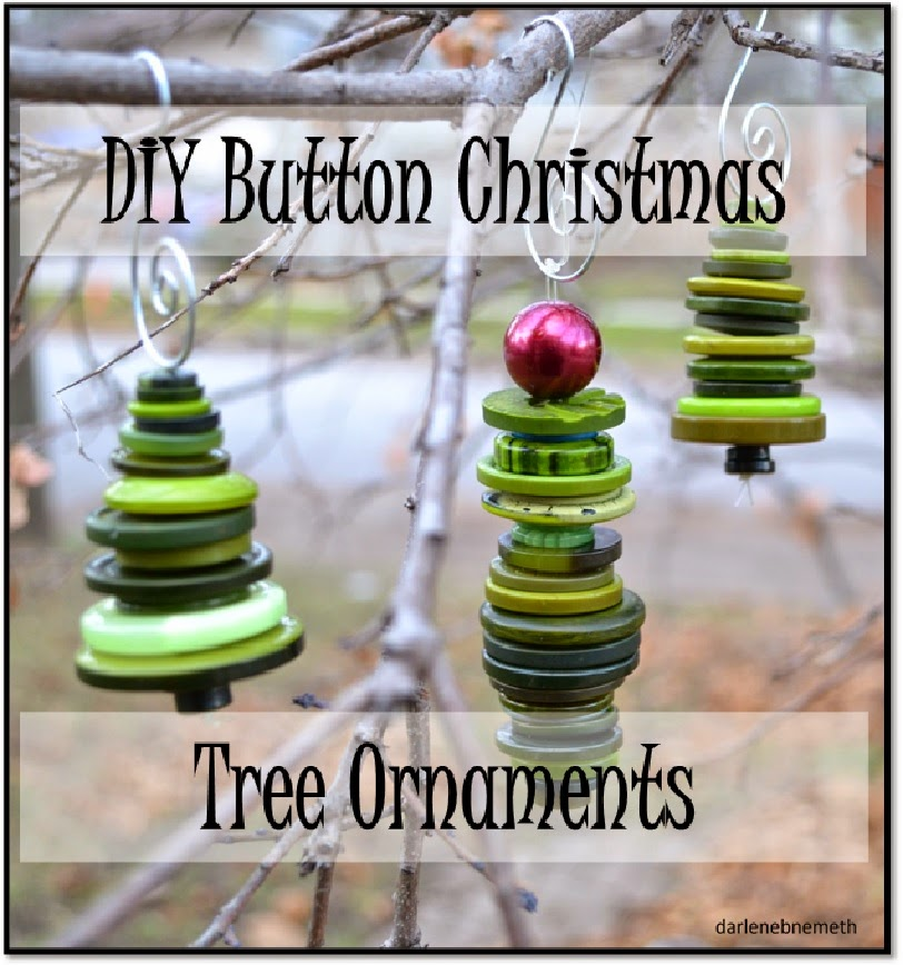DIY Button Christmas Tree Ornaments from Darlene Nemeth
