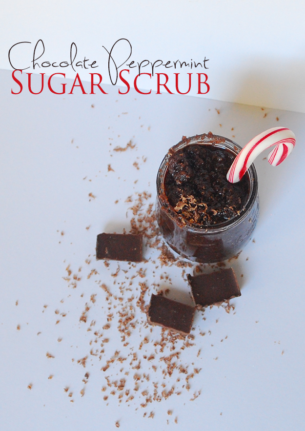 Chocolate Peppermint Sugar Scrub | Really, Are You Serious?