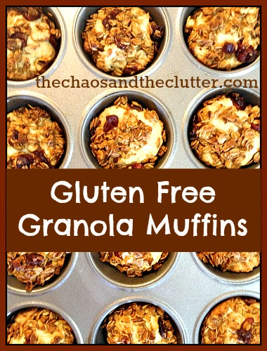 Gluten Free Granola Muffins | The Chaos and the Clutter