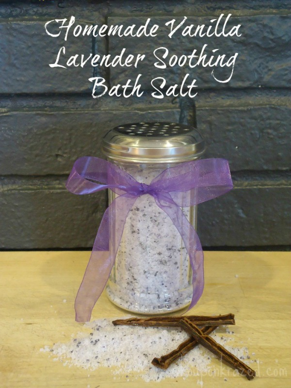 Homemade Vanilla Lavender Soothing Bath Salt | Southern Krazed
