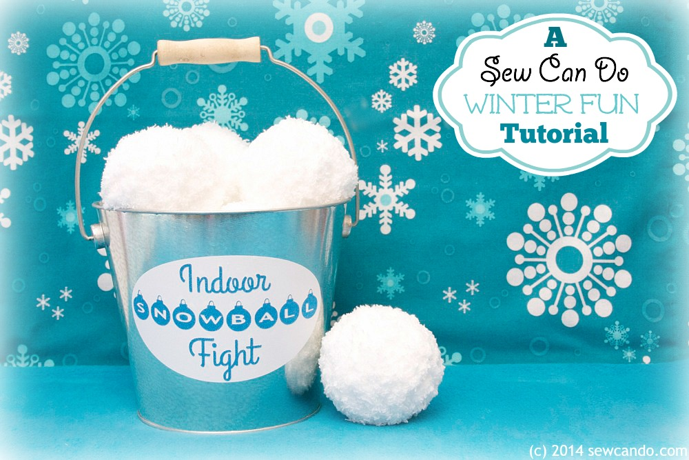 Make An Indoor Snowball Fight Set. Awesome idea from Sew Can Do