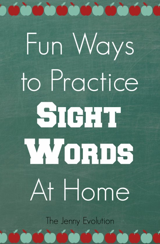 20+ Fun Ways to Practice Sight Words at Home | Mommy Evolution