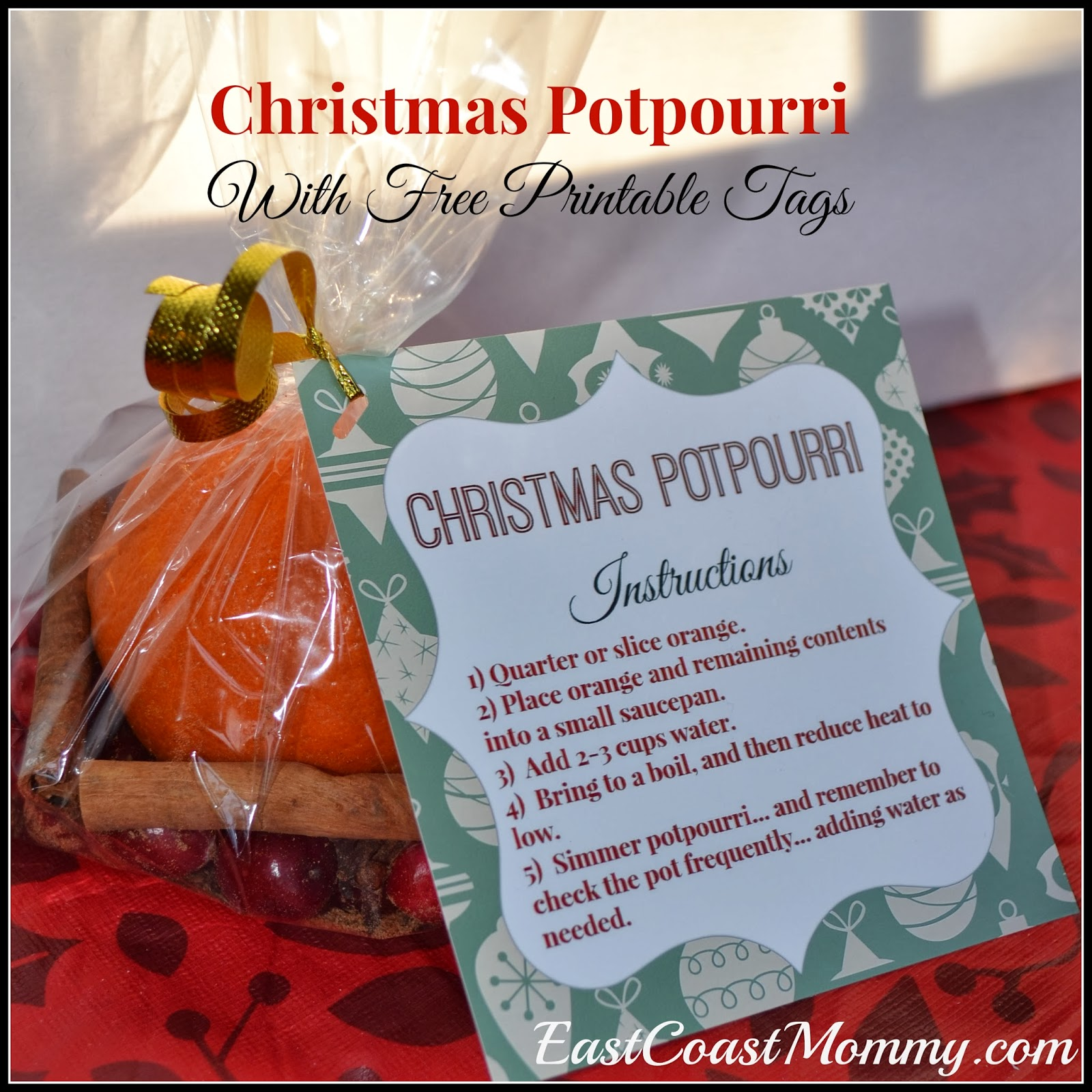 DIY Christmas Potpourri | East Coast Mommy