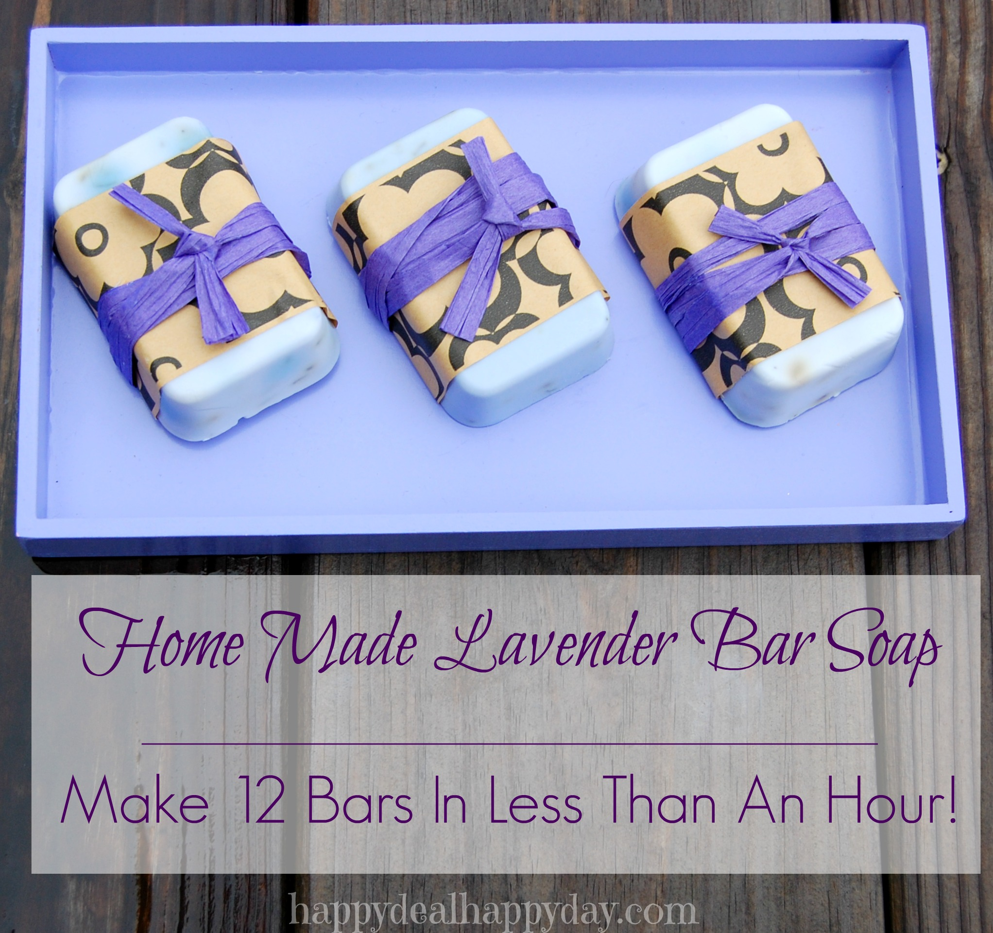 Lavender Home Made Soap Making | Happy Deal - Happy Day