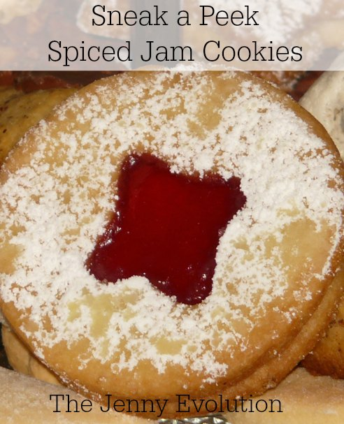 Sneak a Peek Cookies with Spiced Jam Recipe | The Jenny Evolution