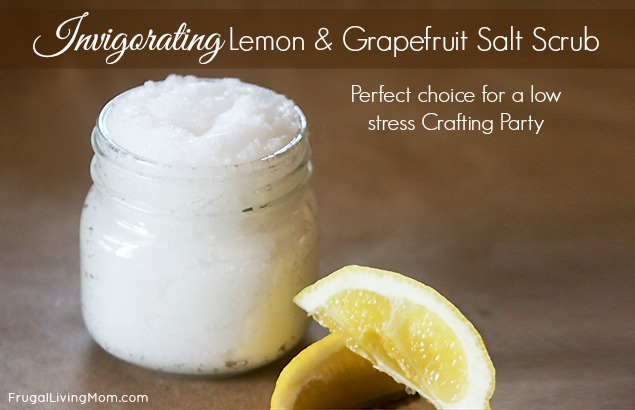 Invigorating Lemon and Grapefruit Salt Scrub | Frugal Living Mom
